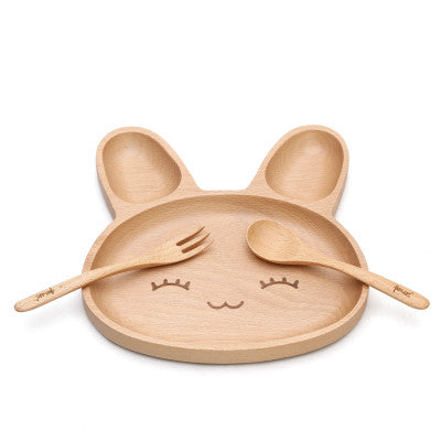 Cute Rabbit Food Dish - 3 Compartment Dinner Plate