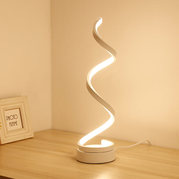 Creative Design Spiral Modern Table Light Lamps