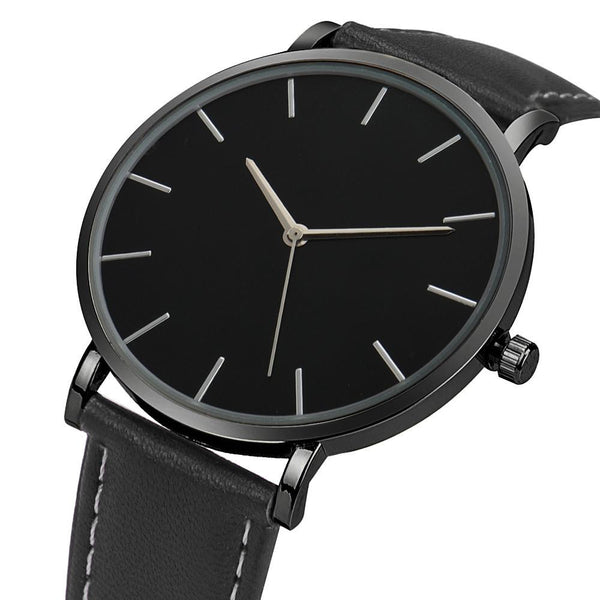 Timeless Face Leather Unisex Watch