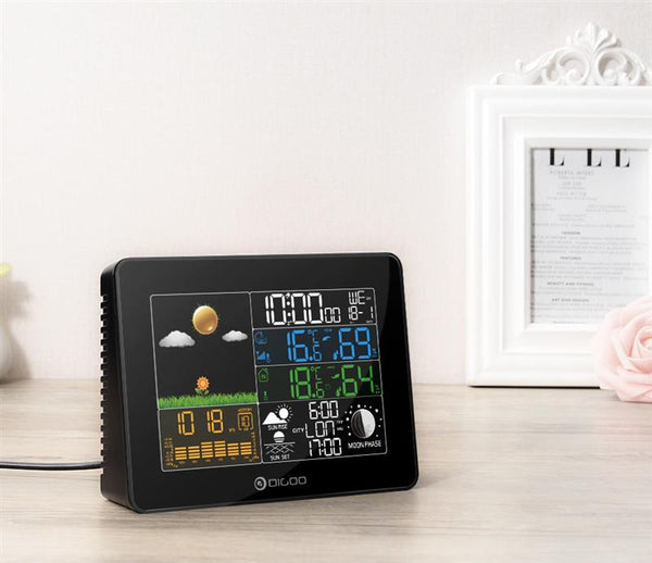 Digoo Wireless Digital Outdoor Weather Station with clock