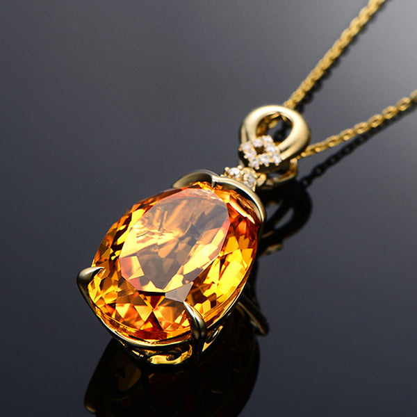Natural Citrine Crystal Chain