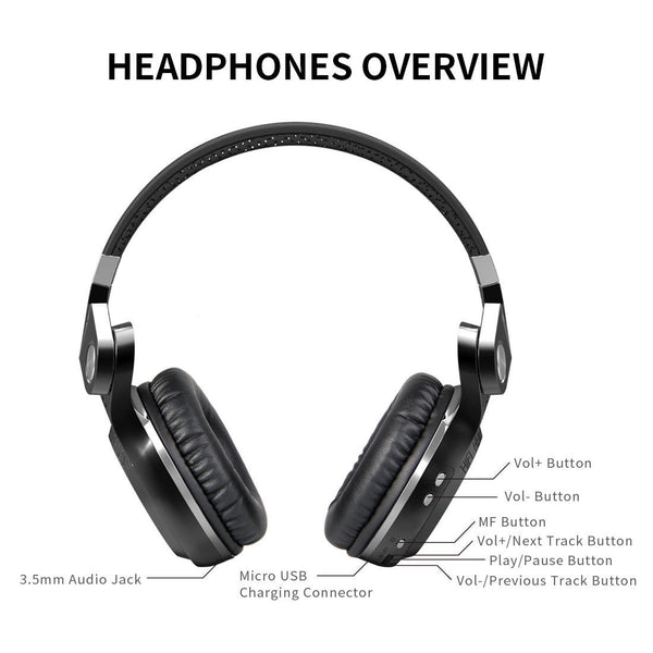 Bluedio T2S Bluetooth 4.1 Wireless Foldable Headphones