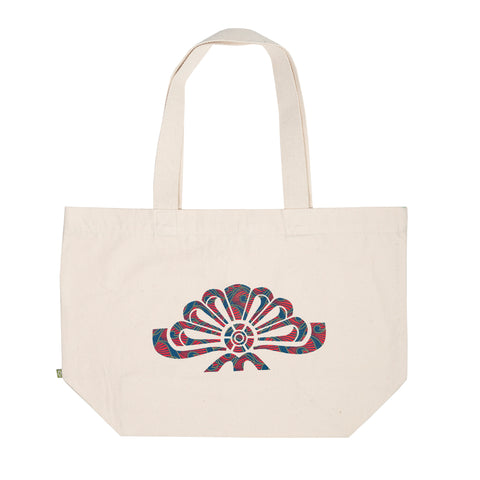 Flower Wax Print Canvas Bag