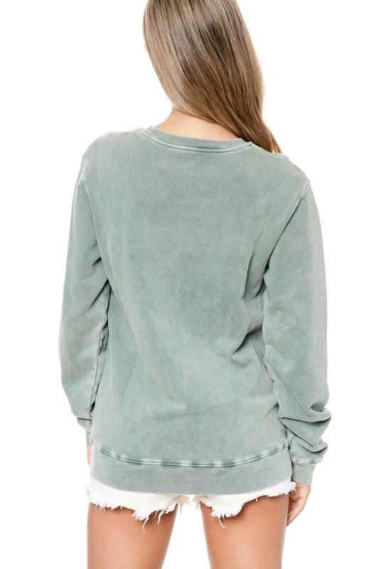Wild Dreamer Butterfly Mineral Wash Graphic Sweatshirt