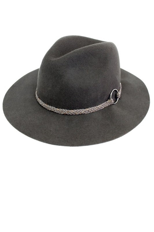 Traveler Wool Panama Hat - Grey - Barefoot Dreamer