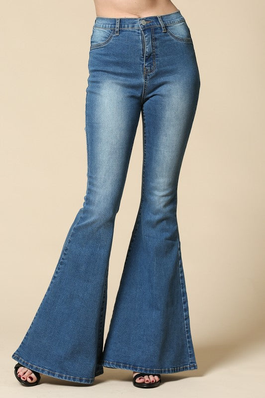 Gypsy Rose Stretchy Bell Bottom Jeans - Barefoot Dreamer
