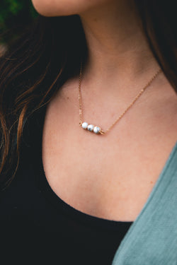 Dainty Marble Detail Necklace - Barefoot Dreamer