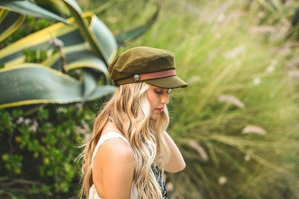 Roxy Felt Wool Fisherman Hat - Olive - Barefoot Dreamer