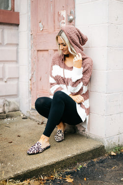 Emma Striped Hooded Popcorn Knit Pullover - Barefoot Dreamer