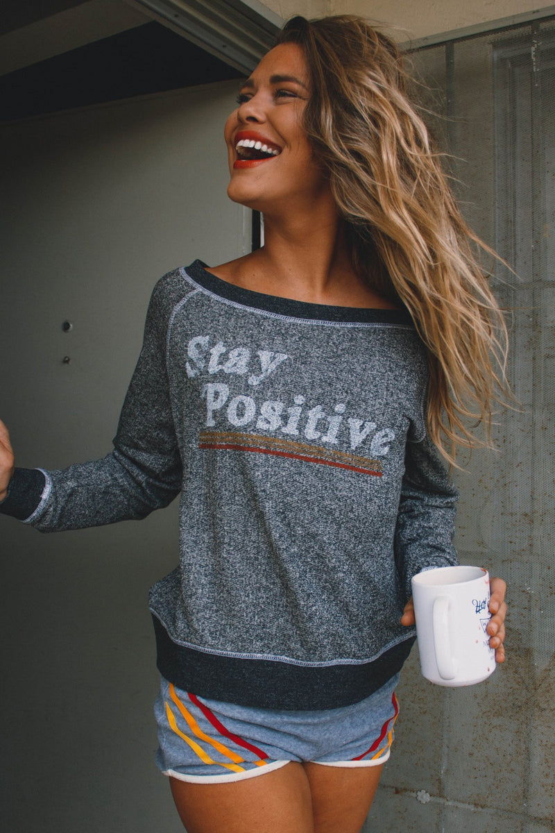 Stay Positive Graphic Sweatshirt - Barefoot Dreamer
