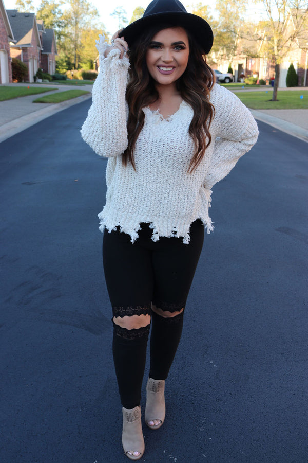 Adelaide Lace Cut Out Black Leggings