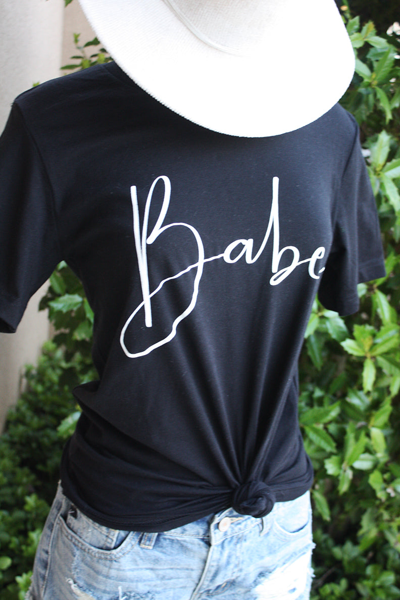 Babe Graphic Tee - Black - Barefoot Dreamer