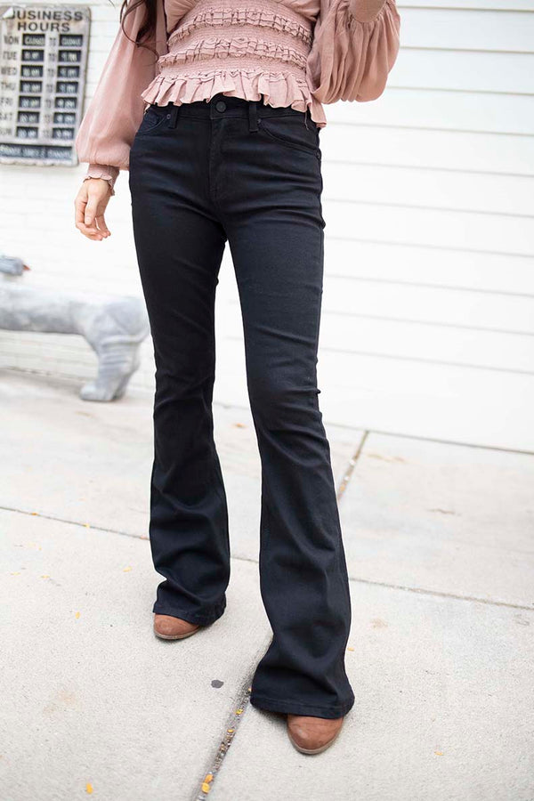 Wild For You Black Flare Jeans - Mid RIse - Barefoot Dreamer
