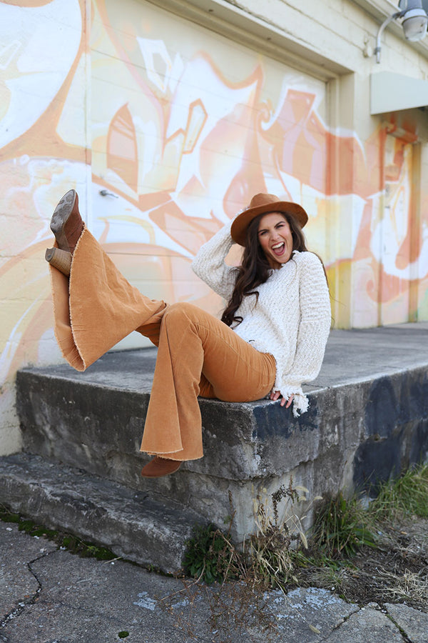 Gypsy Dreamin'  Corduroy Bell Bottoms - Camel