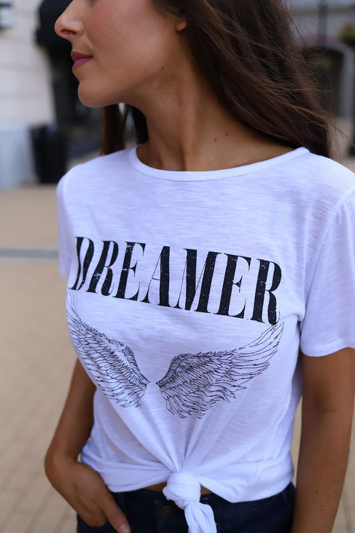 Dreamer Graphic Tee WIth Wings - Barefoot Dreamer