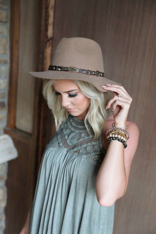 Boho Daze Feathered Panama Hat - Barefoot Dreamer