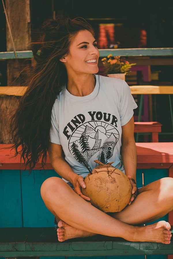 Find Your Road Graphic Tee - Barefoot Dreamer