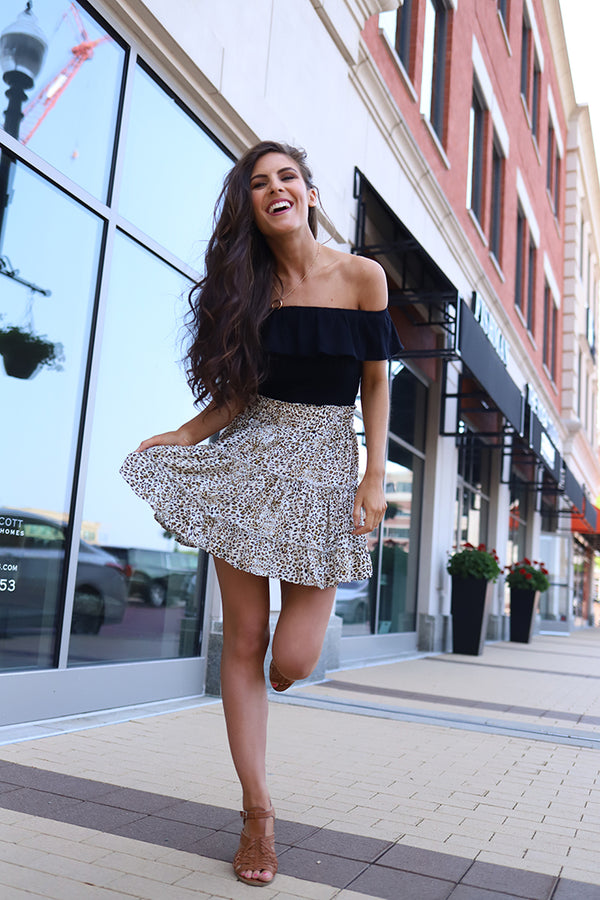 Wild and Free Leopard Flutter Skirt - Barefoot Dreamer