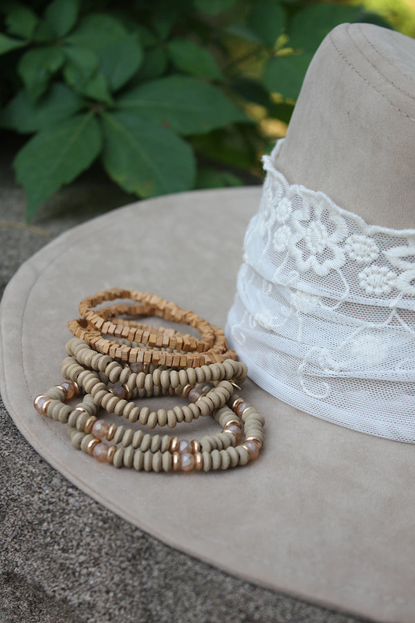 Cypress Natural Bracelet Stack