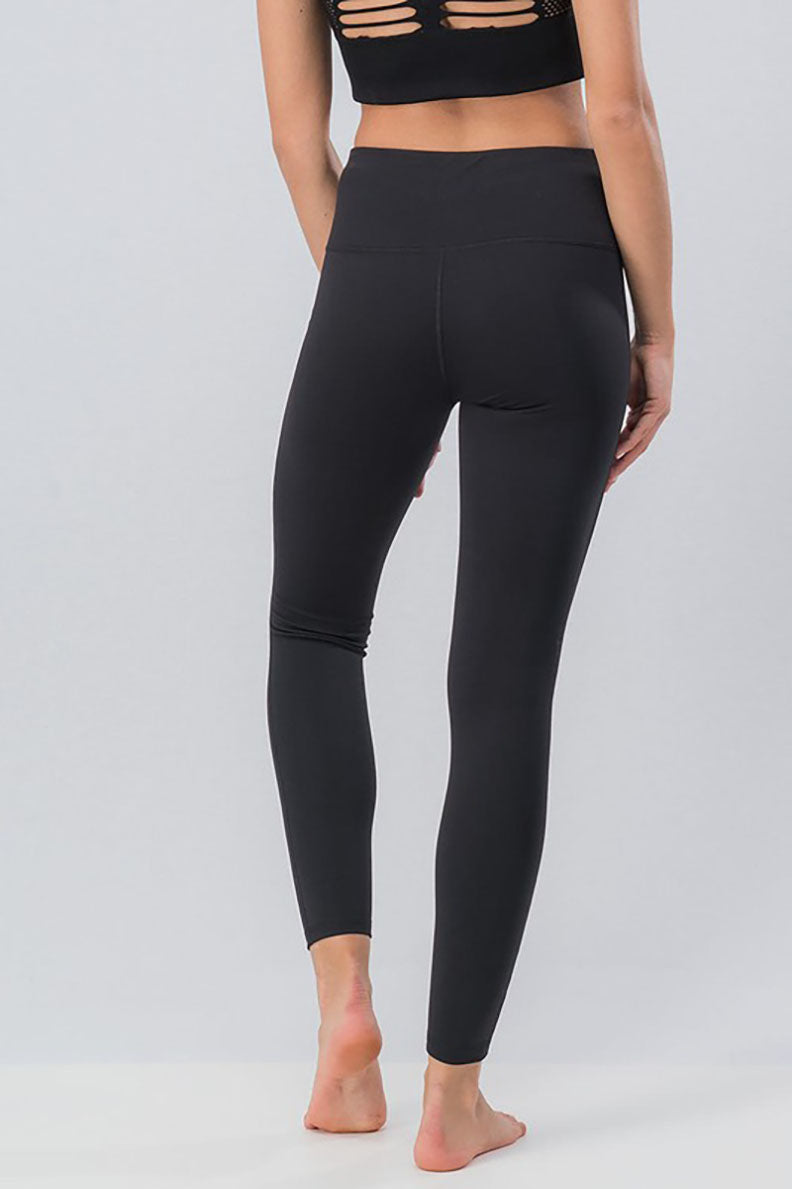 All Sliced Up Cut Out Black Leggings - Barefoot Dreamer