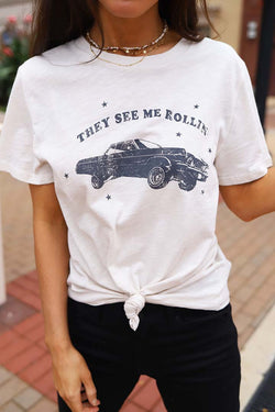 They See Me Rollin' Graphic Tee - Barefoot Dreamer
