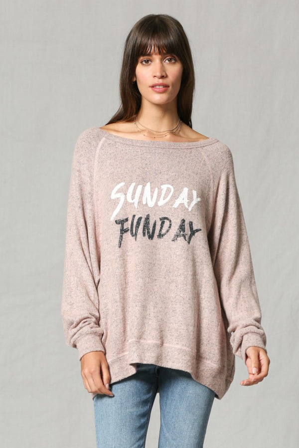 Sunday Funday Graphic Sweatshirt - Barefoot Dreamer