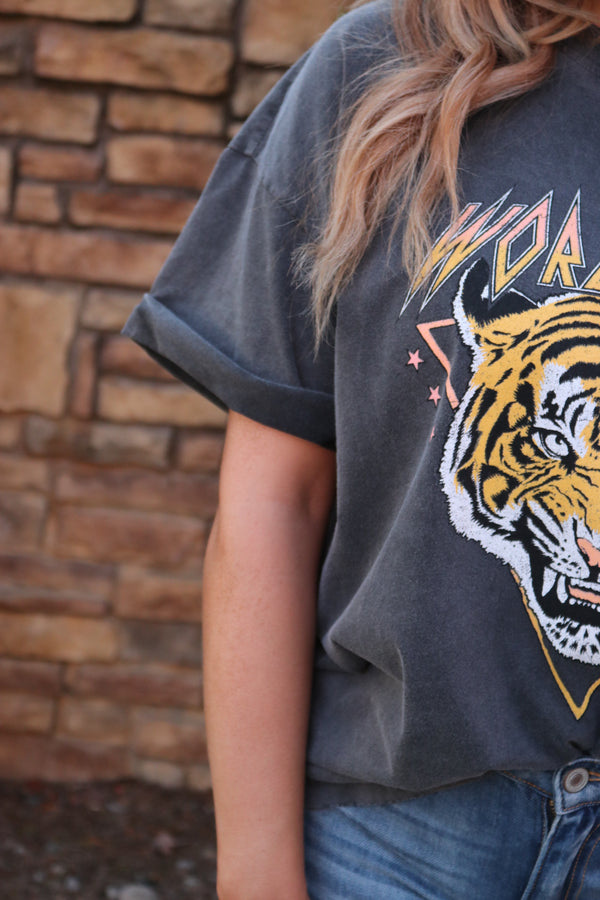 World Tour Tiger Mineral Wash Graphic Tee