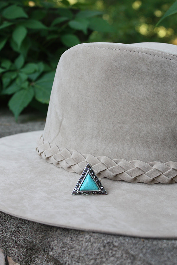 Follow Your Arrow Triangle Turquoise Statement Ring