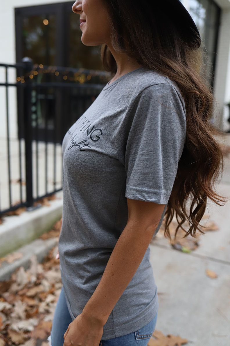 Everything Is Gunna Be Alright Graphic Tee - Grey
