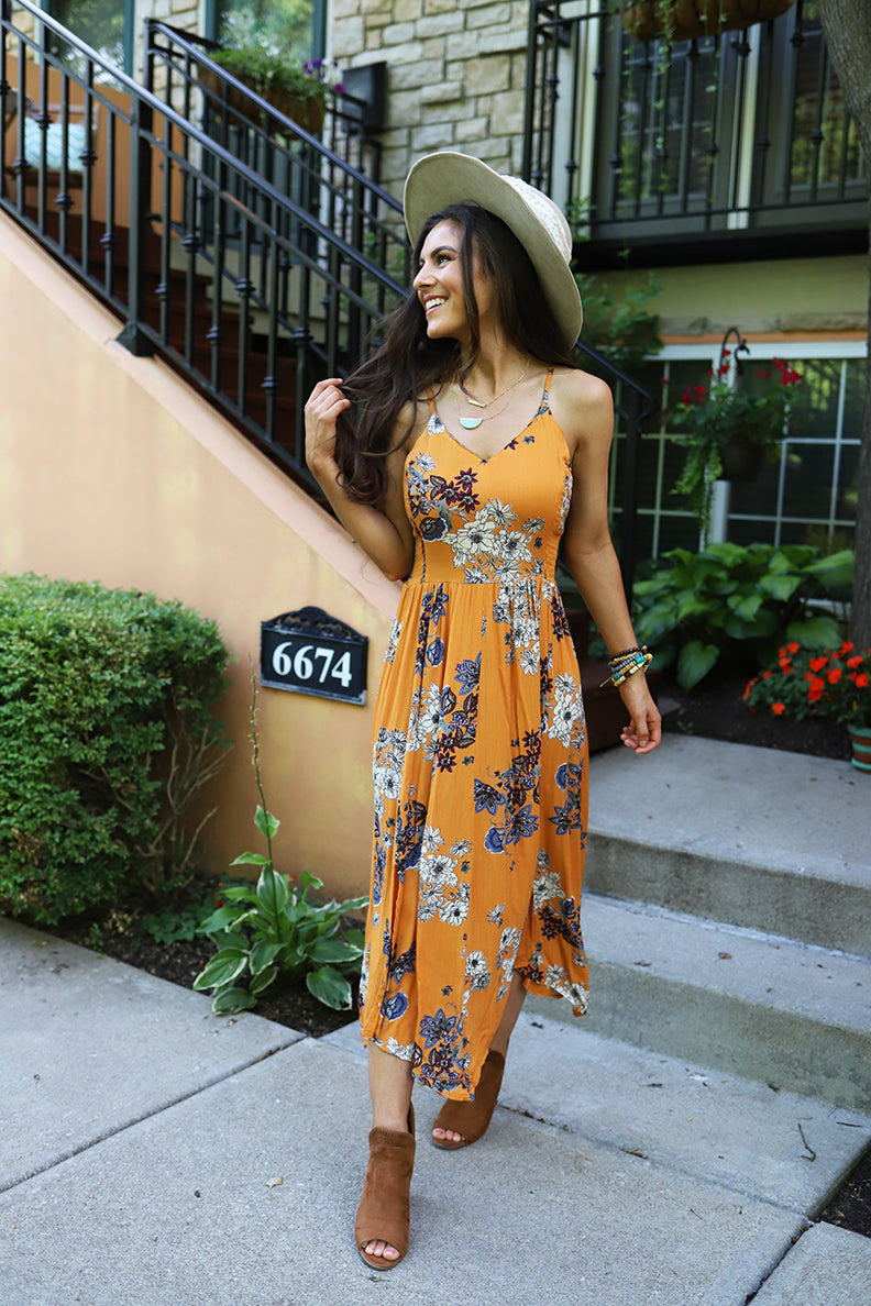 Wildflower Floral Printed Maxi Dress