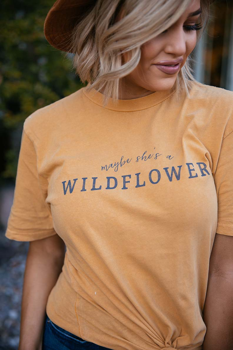 Maybe She's a Wildflower Graphic Tee - Barefoot Dreamer