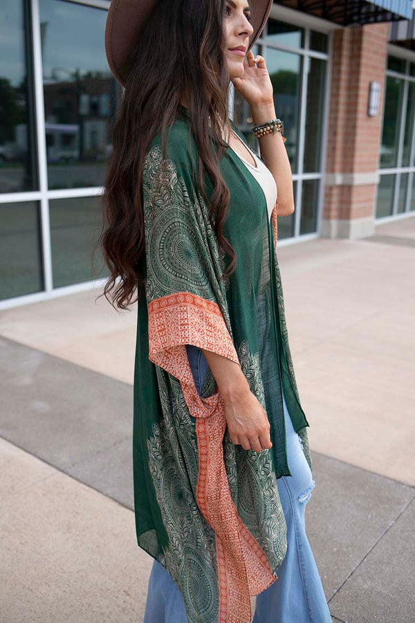 So Beloved Bohemian Mandala Duster Kimono