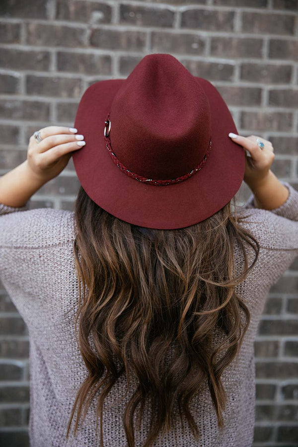 Traveler Wool Panama Hat - Wine - Barefoot Dreamer
