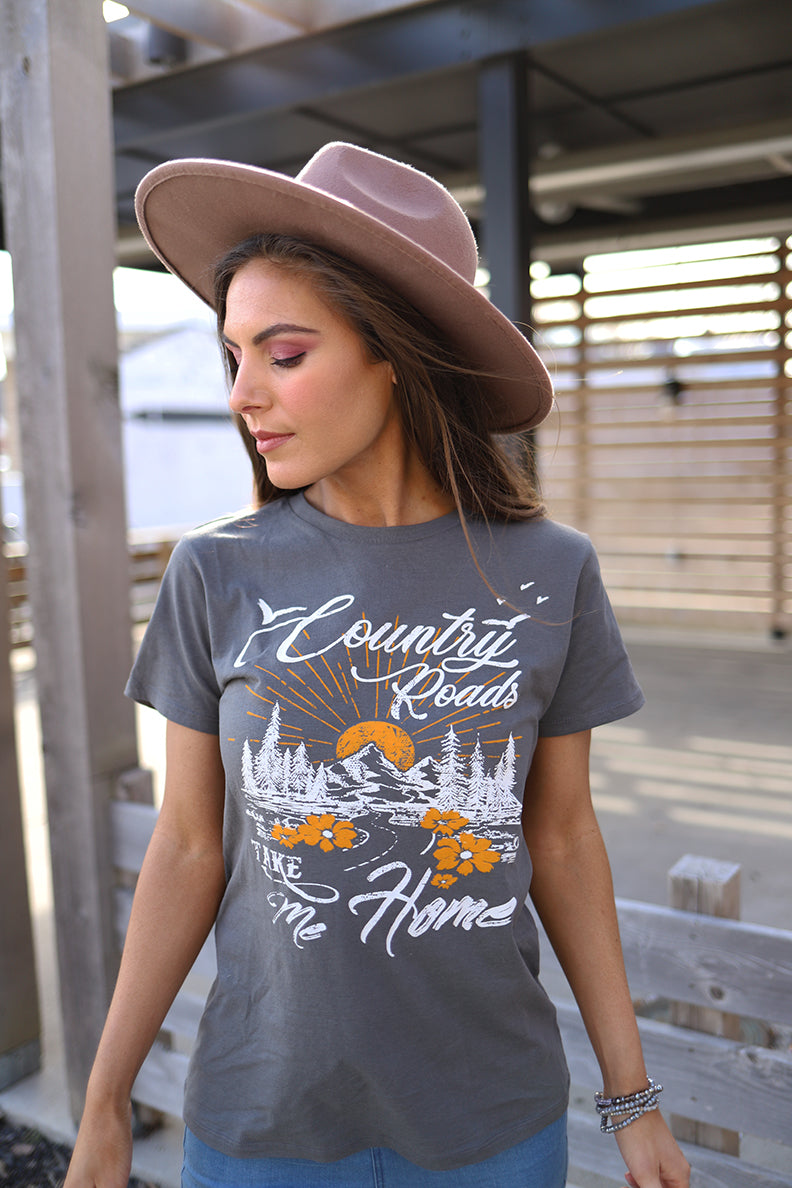 Country Roads Graphic Tee - Barefoot Dreamer