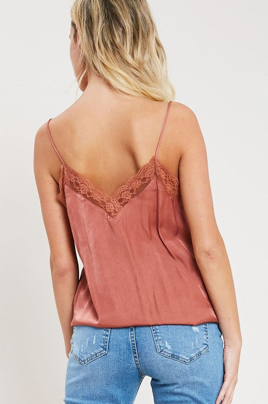 Melody Lace Detailed Cami - Ginger - Barefoot Dreamer