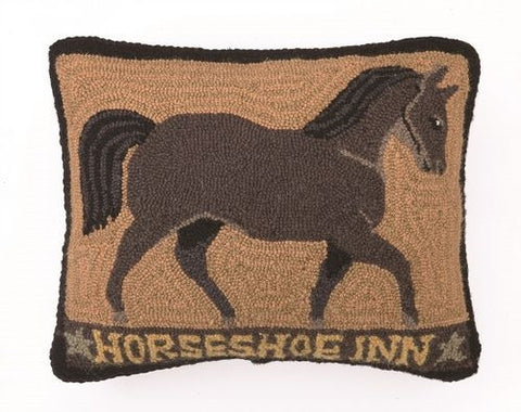 Brown-Horseshoe Inn Hook Pillow 16 x 20