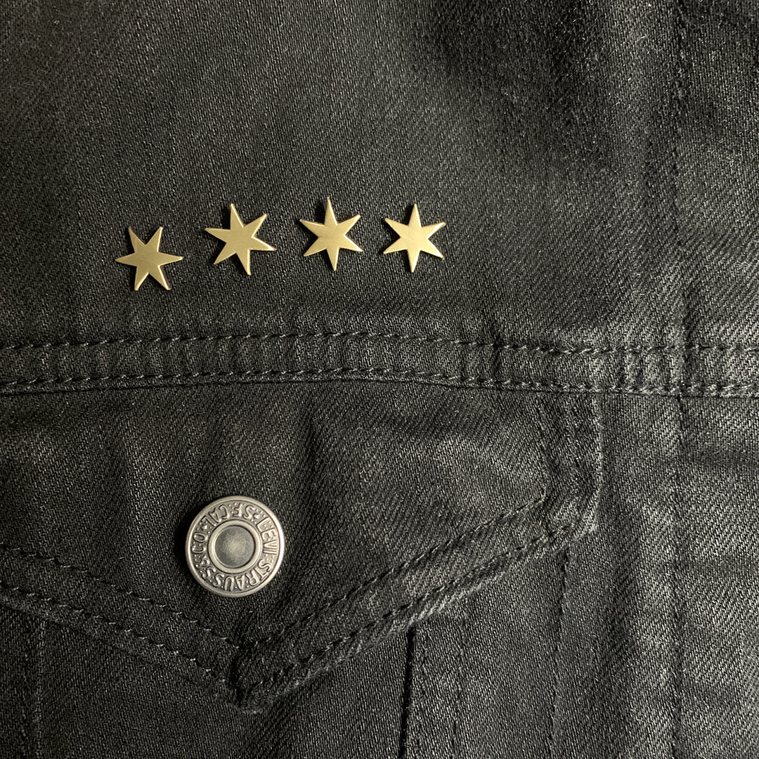 4 Chicago Star pins