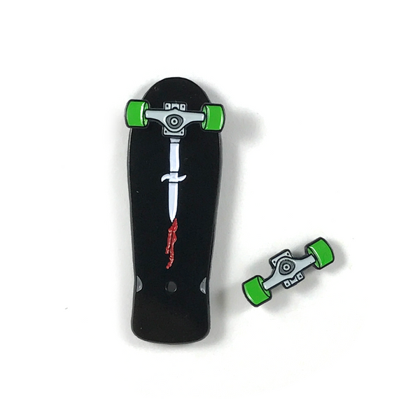 Daggers Skateboard Pin
