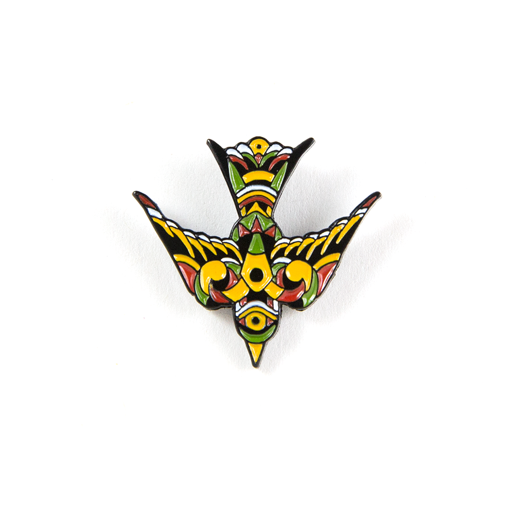 Folk Bird Pin