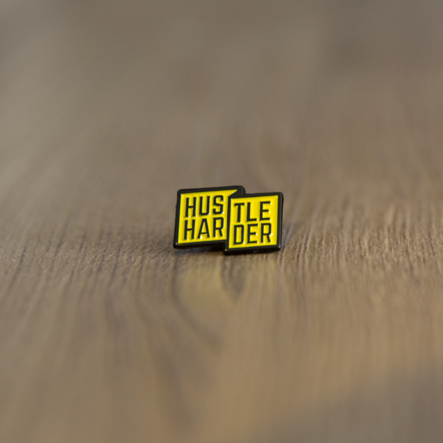 Hustle Harder Pin