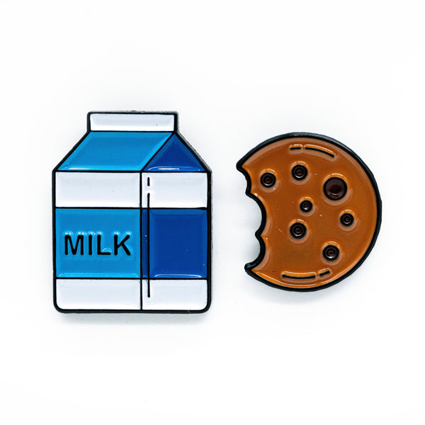 Milk & Cookie Buddy Pins