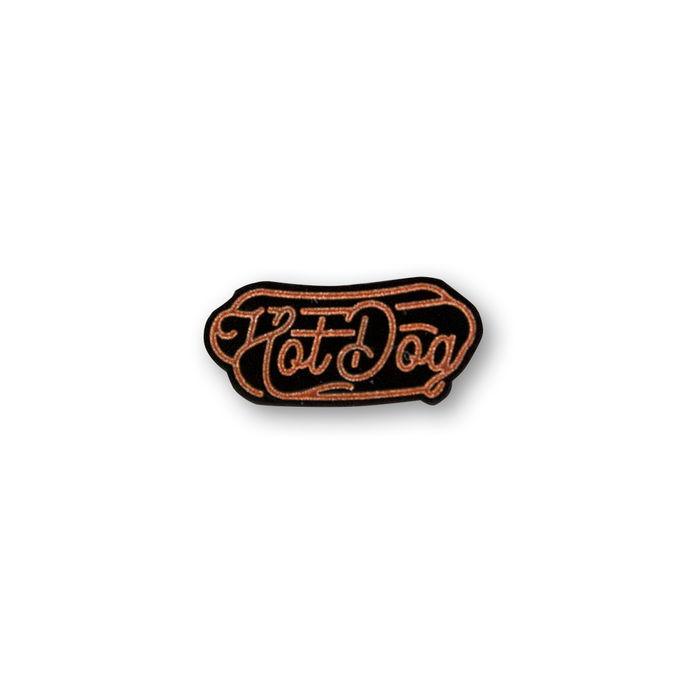 Hot Dog Neon Sign Pin