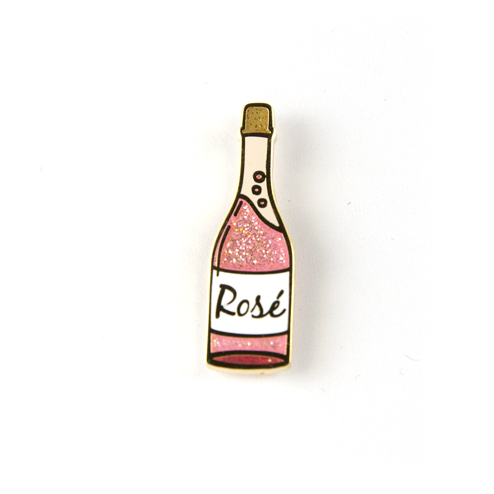 Rosé Bottle Pin