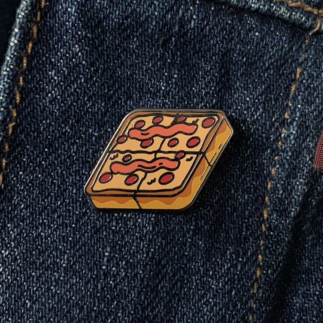 Square Pizza Pin
