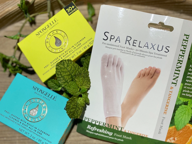 Spongelles and Foot Masks
