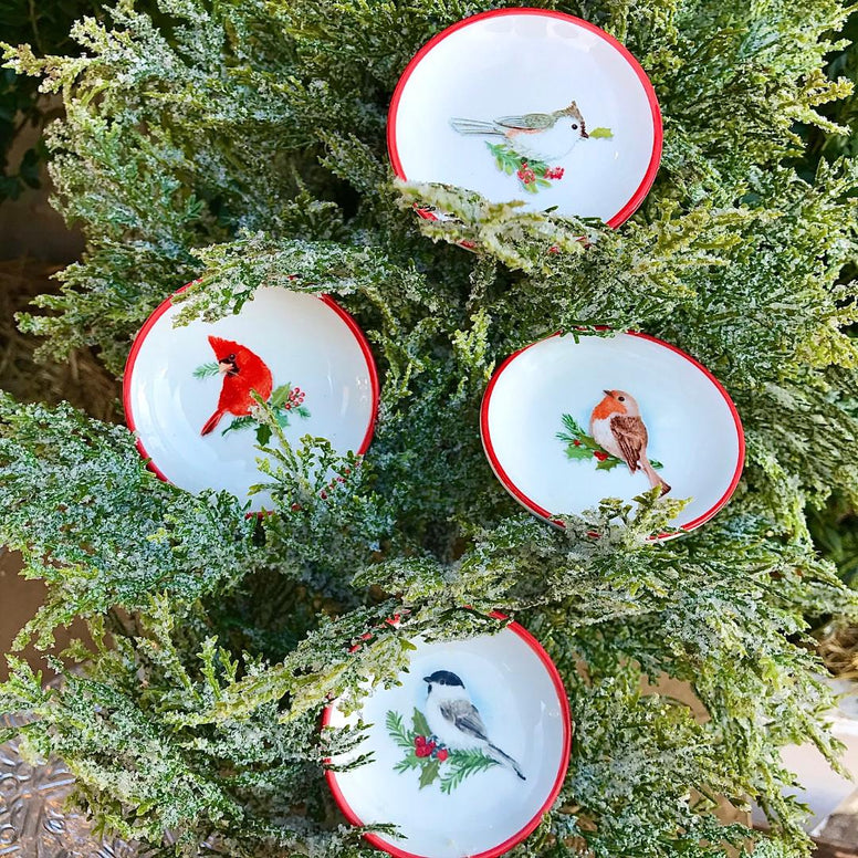 Winter Bird Mini Dishes
