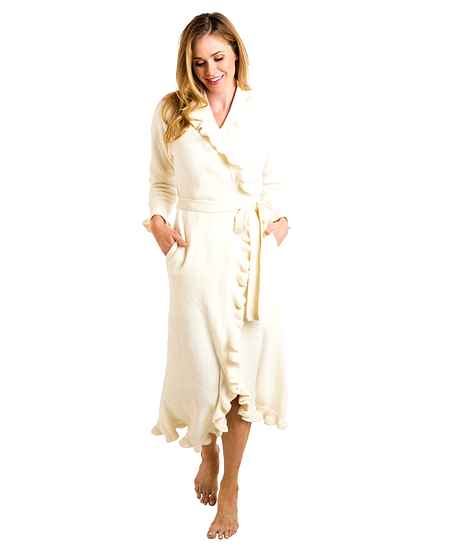 Ruffled Chenille Robe