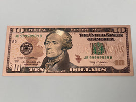 Rose Gold Novelty U.S. $10 Dollar Bill