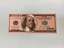 Rose Gold Novelty U.S. $100 Dollar Bill
