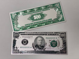 Silver Plated $500 Novelty Bill